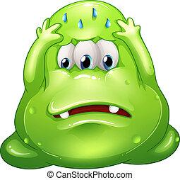 greenslime, monster, traurige