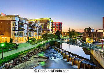 Greenville, South Carolina Skyline - Greenville, South...