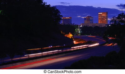 Greenville, South Carolina Traffic - Interstate 385 leads...