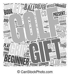 greep, concept, golf, tekst, kadootjes, wordcloud, pakketten, achtergrond