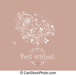 Greeting beautiful card
