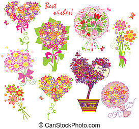 Greeting bouquets