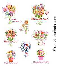 Greeting bouquets for Mothers day