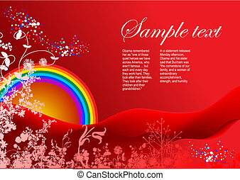 Greeting card background. Colored vector. Can be used as invitation