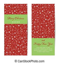 Greeting card, banner or brochure for Christmas and New Year