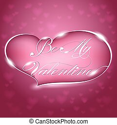 Greeting Card - Be My Valentine, vector