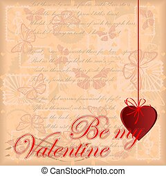 Greeting card Be my Valentine