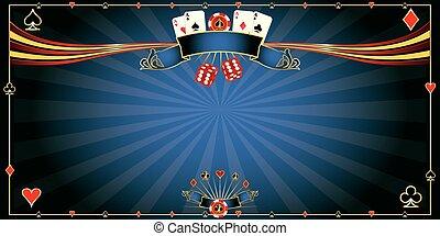 Greeting card blue Casino
