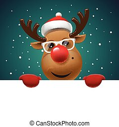 Greeting card, Christmas card with reindeer