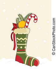 Greeting card - Christmas Stocking