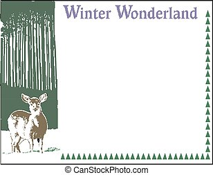 Greeting card concept with the word Winter vector illustration eps 10