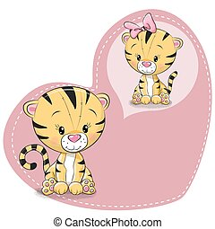 Cute cartoon Dreaming Tiger