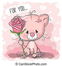 Greeting card cute Cat