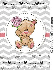 Bear with a flower