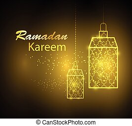 Greeting card design for Ramadan Kareem - Greeting card...