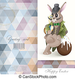 Easter Bunny With Chocolate Egg