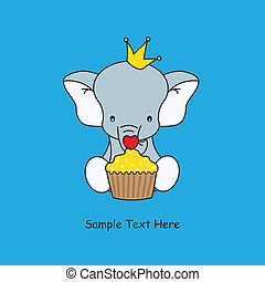elephant with a muffin