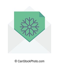 greeting card flat icon
