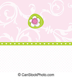 Greeting card - Floral card with copy space