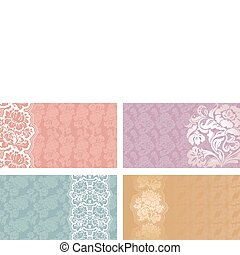 Greeting card, flower lace