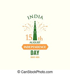 Greeting card for celebrating Independence Day of India,15th August.
