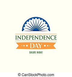 Greeting card for celebrating Independence Day of India.15th August.