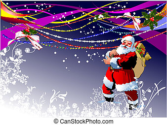 Greeting card for Christmas and happy New Year