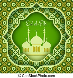 Greeting card for Eid al-Fitr. - Vector greeting card for ...