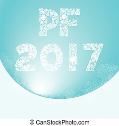 Greeting card for happy new year with inscription pf 2017 -...