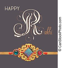 card for indian festive sisters and brothers Raksha Bandhan