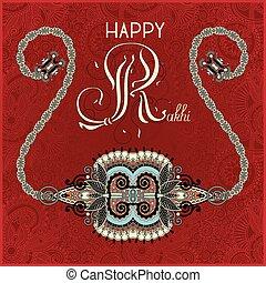 greeting card for indian festive sisters and brothers Raksha Ban