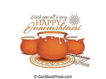 Greeting card for Krishna Janmashtami
