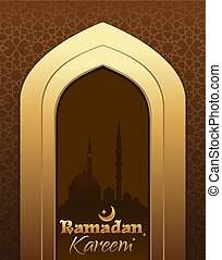 Greeting card for Ramadan Kareem