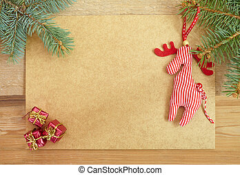 Greeting card for the Christmas holidays