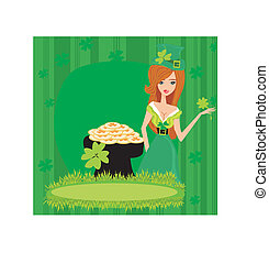 Greeting card for the holiday St. Patrick's Day