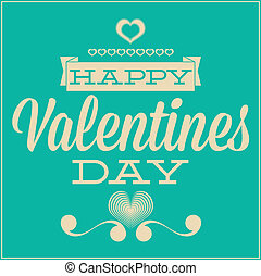 Greeting card for Valentine's Day. Blue background