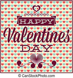 Greeting card for Valentine's Day. Seamless pattern