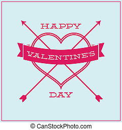 Greeting card for Valentine's Day. Simple