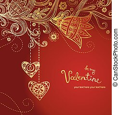 Greeting card for wedding or valentine day