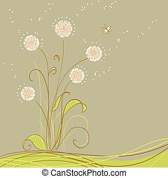 Greeting card - greeting card with flowers