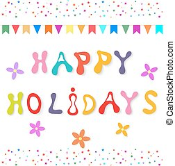 Greeting card Happy Birthday. Vector illustration.