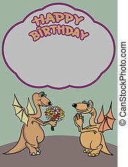 Greeting card. Happy birthday.