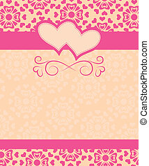card Happy Valentine's Day and wedding day