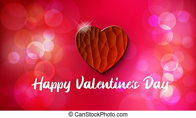 Greeting Card. Happy Valentines Day Bokeh Background