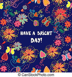 Greeting card - have a nice day illustration