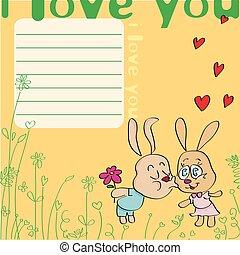 Greeting card I love you!