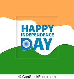 Greeting card. Independence Day of India