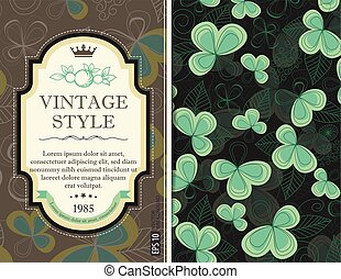Greeting card invitation with floral background