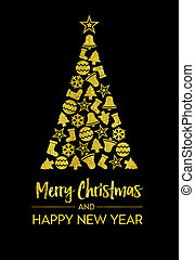 Greeting Card - Merry Christmas and Happy new year