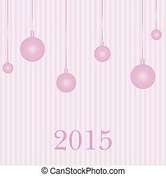 Greeting card  new year 2015